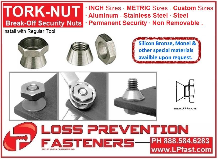 Break Off Nut security