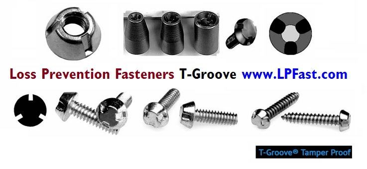 T-Grove Tampruf Tri Groove nuts bolts screws