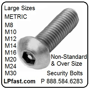 Metric Security Bolts