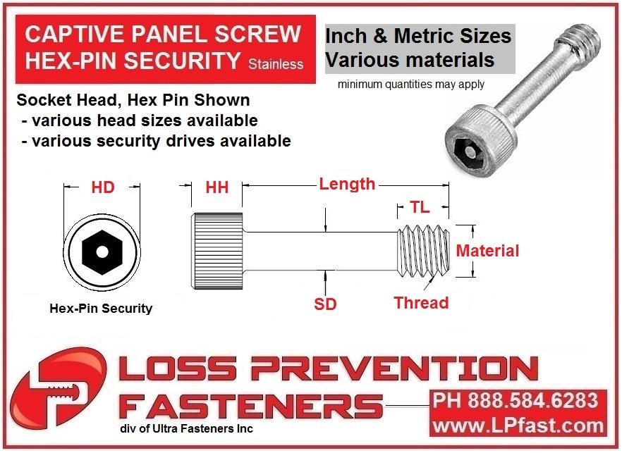 Captive Panel Screw
