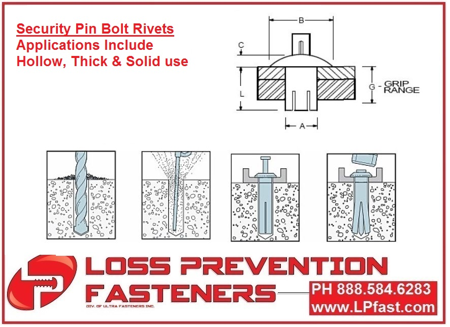 Pin Bolt Rivets Signs Security