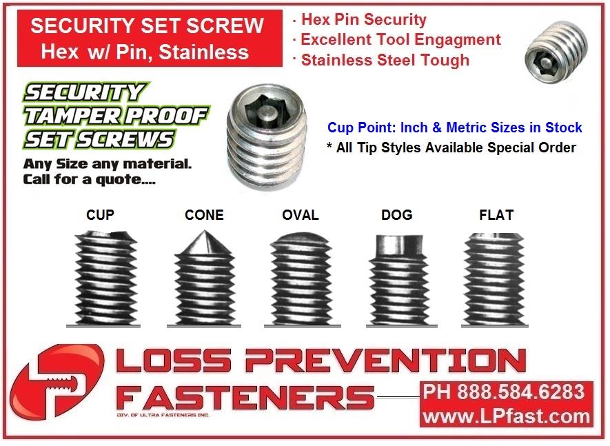 Security set screw LPFast