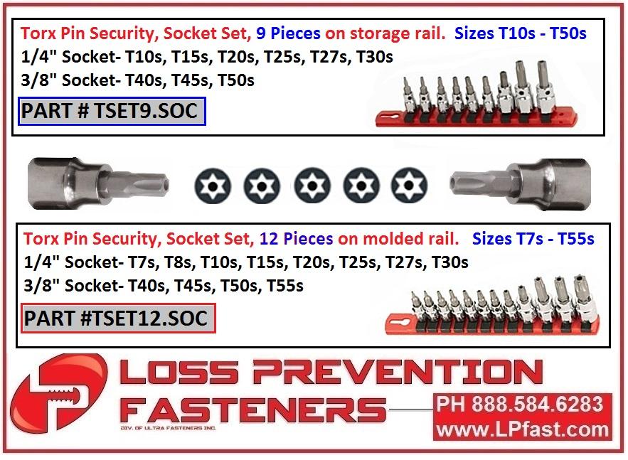 Torx Pin Socket Set