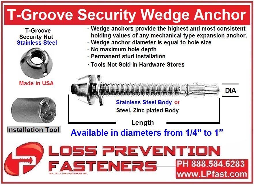 security WEDGE ANCHOR