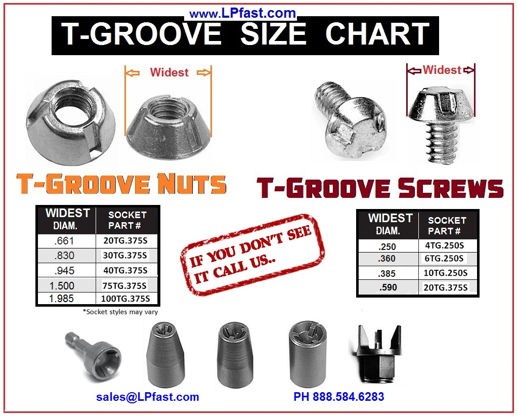 T Groove Nut and Screws