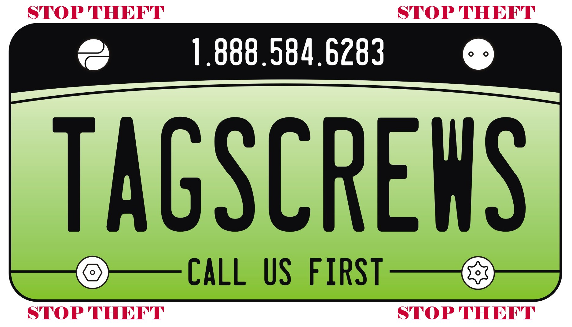 Anti Theft Screws for License Plates