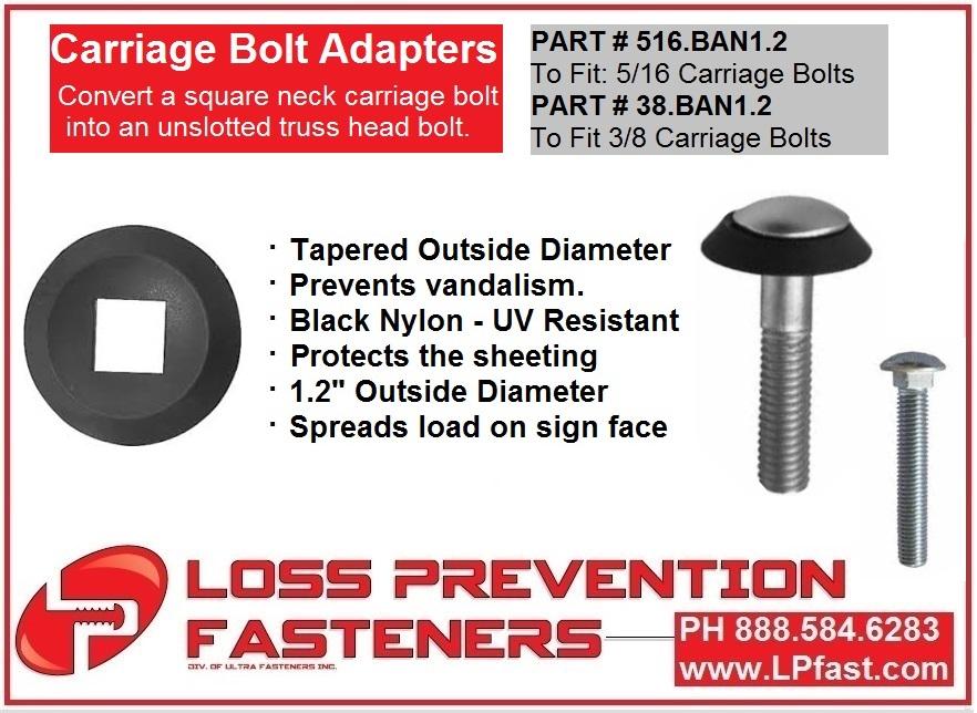 Carraige Bolt adapter