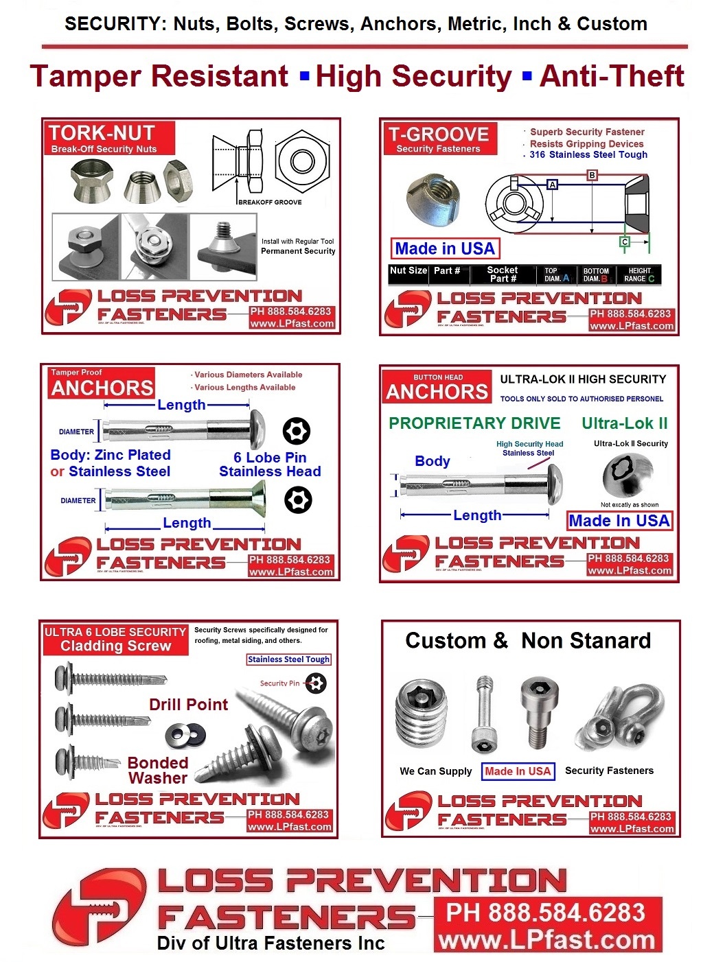Fence Security Fasteners