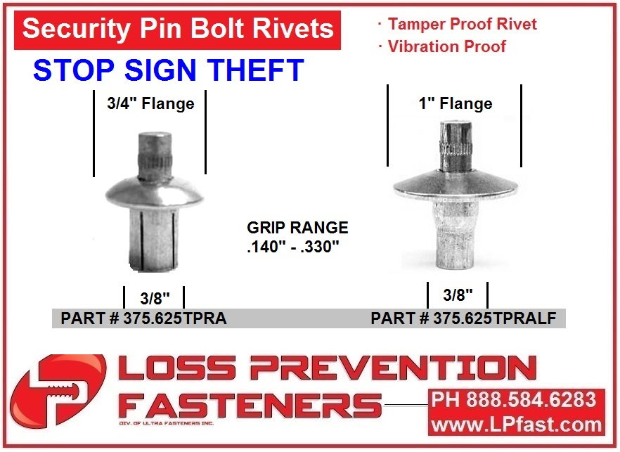 Pin Bolt Rivets for signs