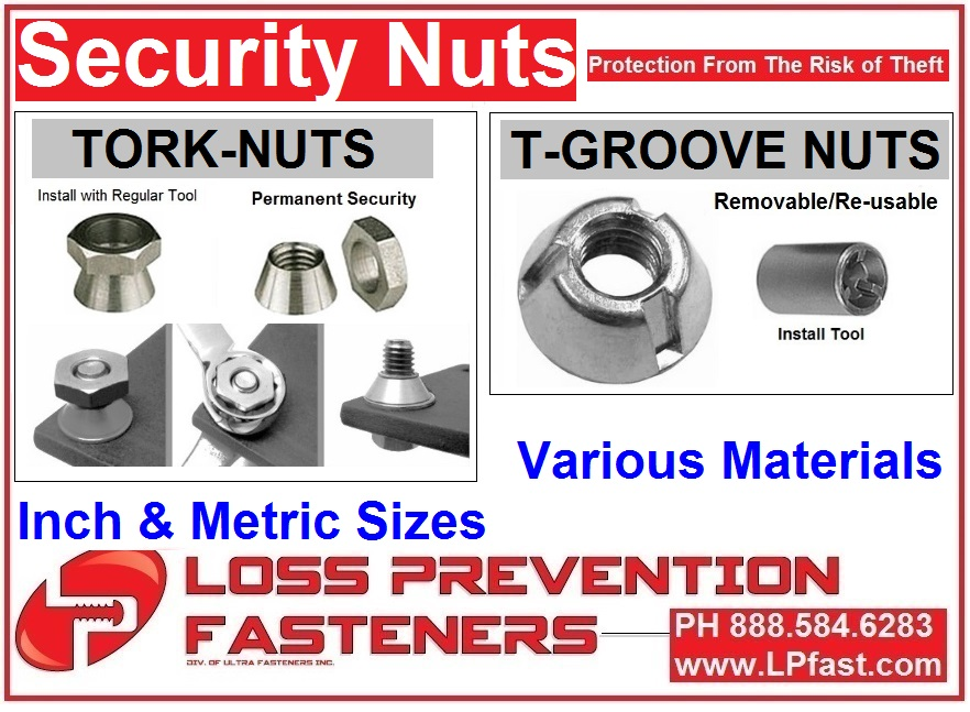 Security Nuts small package
