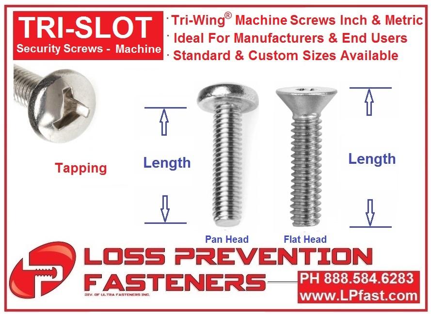 Tri Wing Machine Screws LPfastCOM