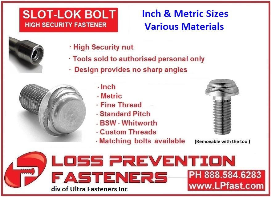 Slot Lok Security Bolts