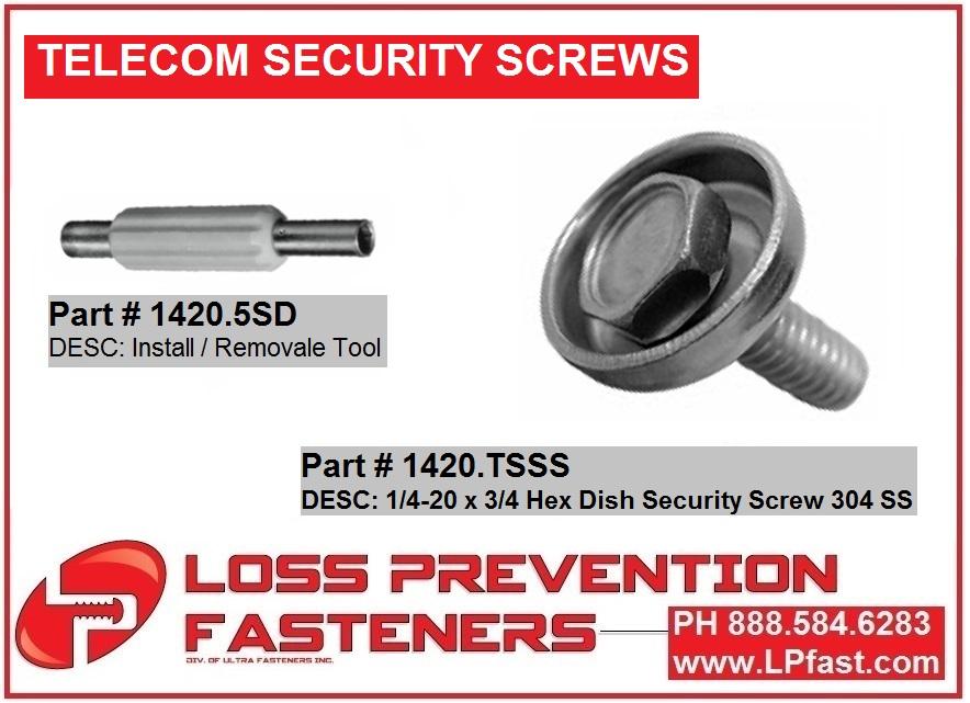 1420.TSSS telecom screw