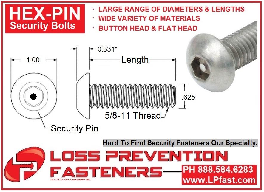 Hex Pin 58 diameter