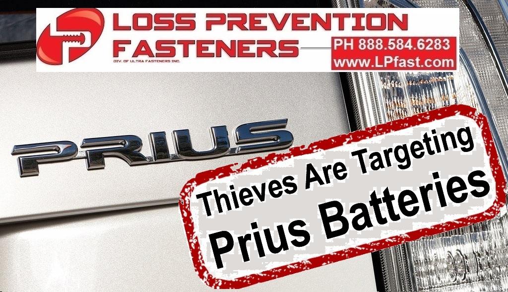 Thieves are targeting Prius Batteries
