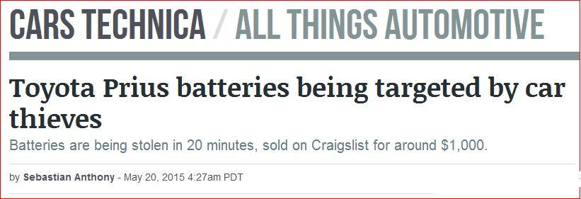 prius battery bolt stolen