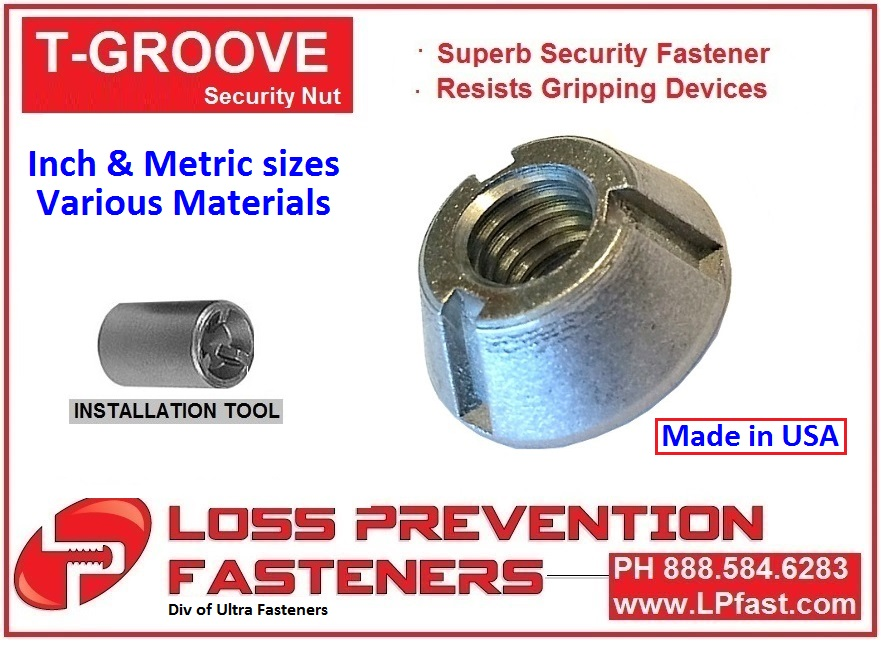 T Groove Nut made in USA