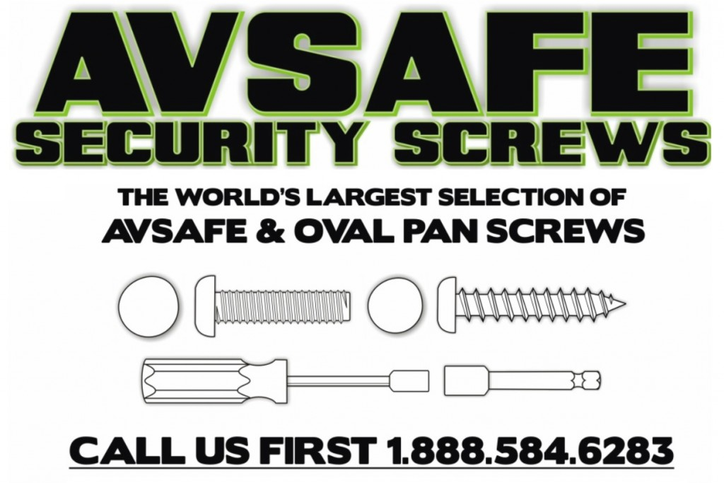 Avsafe Oval Pan Security Screws