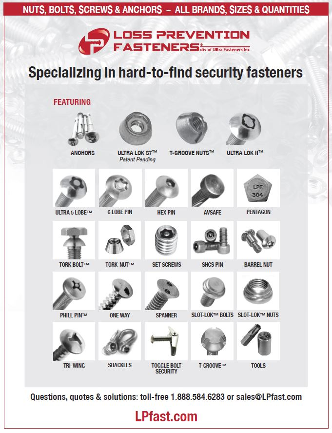 tamperproof nuts bolts and screws
