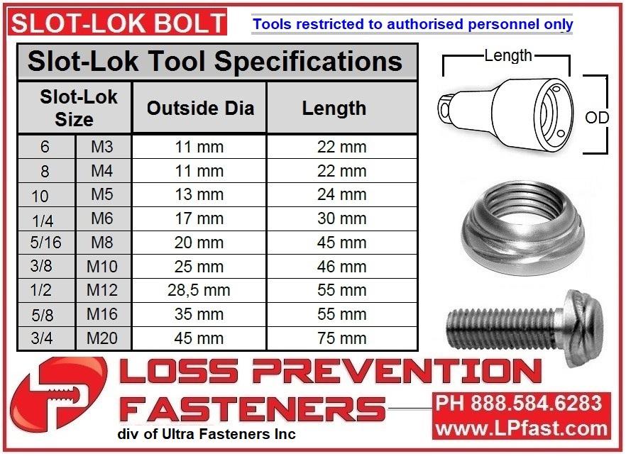 Slot-Lok Bolt Tool SPECS