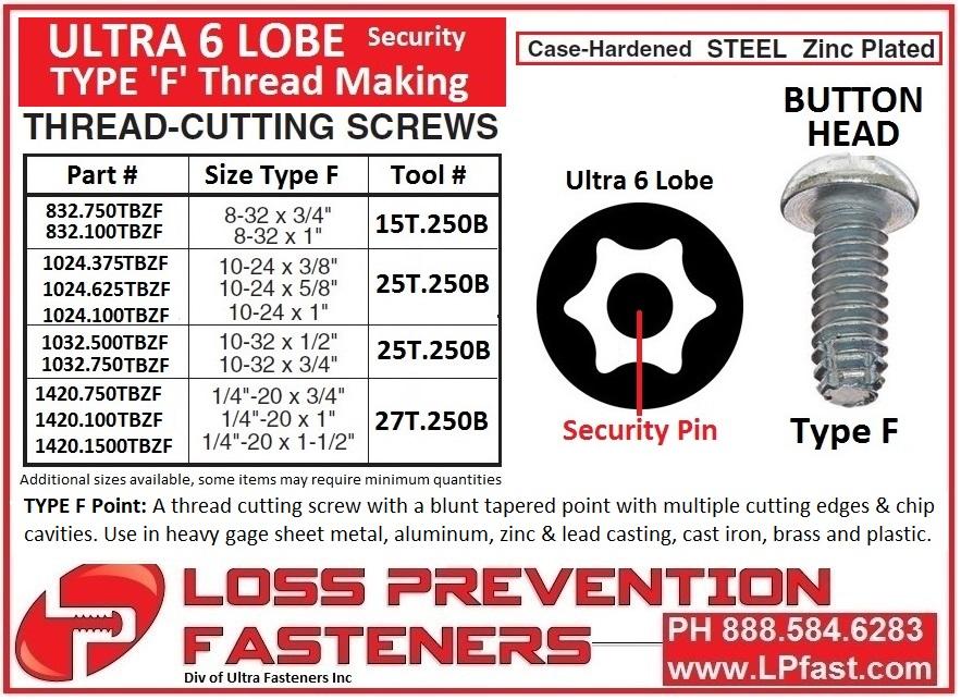 Type F Torx Pin