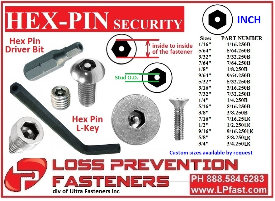 Hex Pin Security Tools