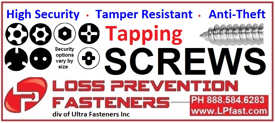 Security Tapping Screws