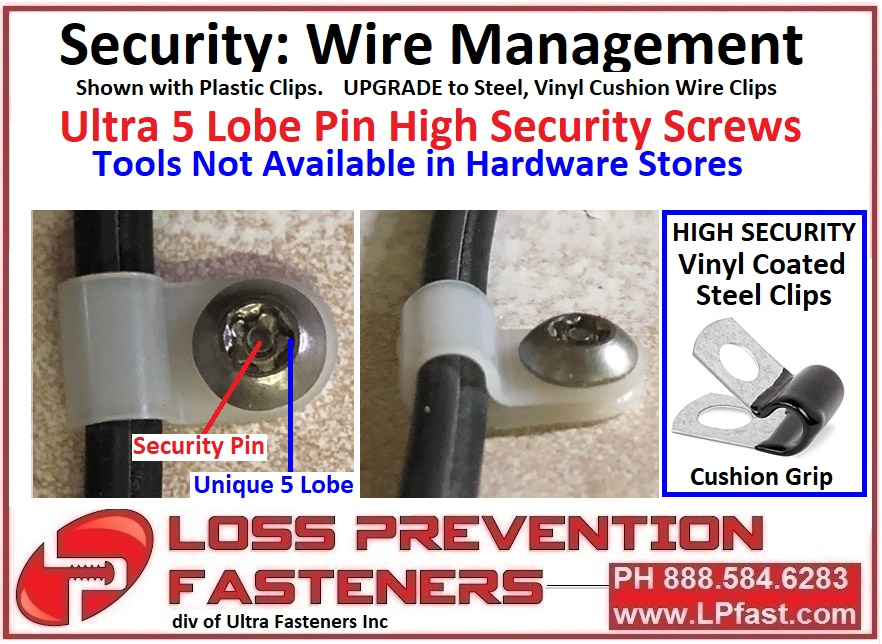 cord and wire and cable security options