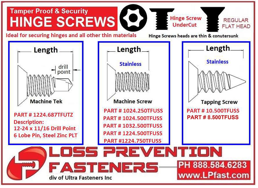 hinge screws