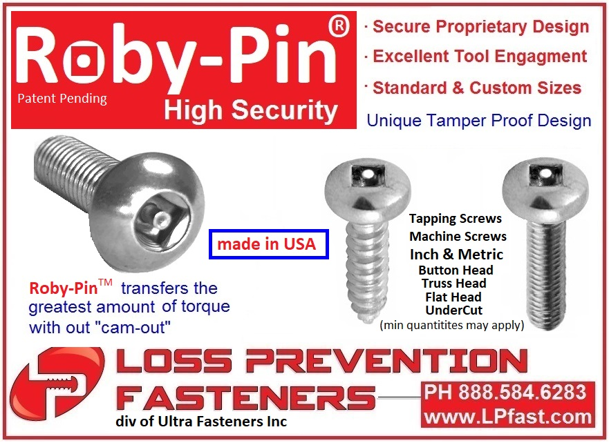 Roby-Pin High Security Screws