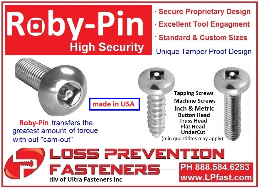 Roby Pin High Security Screws