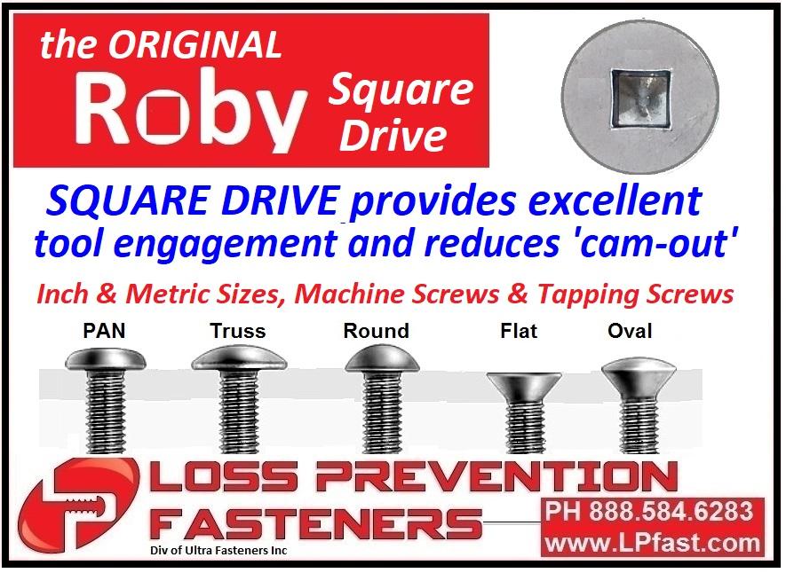 Roby-Pin Tamper Proof Screws