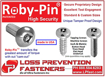 Roby-Pin Security Screws